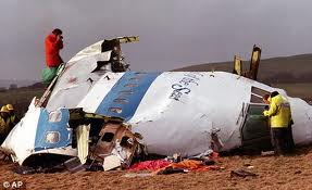A cabine do Pan Am 103 em Lockerbie