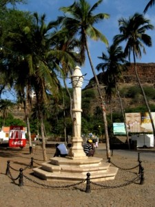 Pelourinho do século XVI na antiga capital da ilha