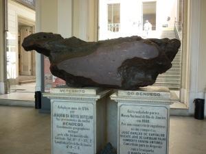 A pedra do céu no Museu Nacional do Rio de Janeiro
