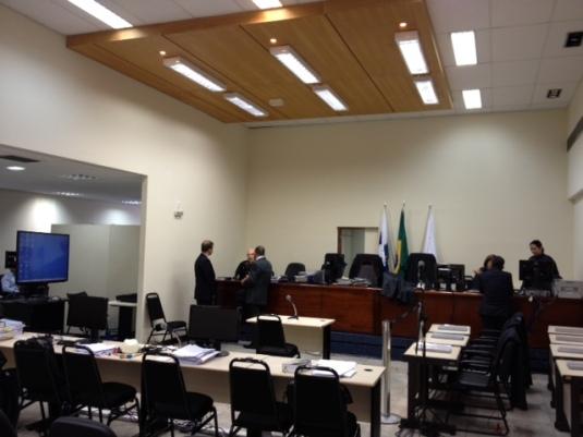 Salão do júri federal em Belo Horizonte (Chacina de Unaí), 28/ago/2013
